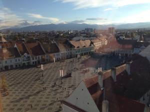 Sibiu as seen from the clock tower.